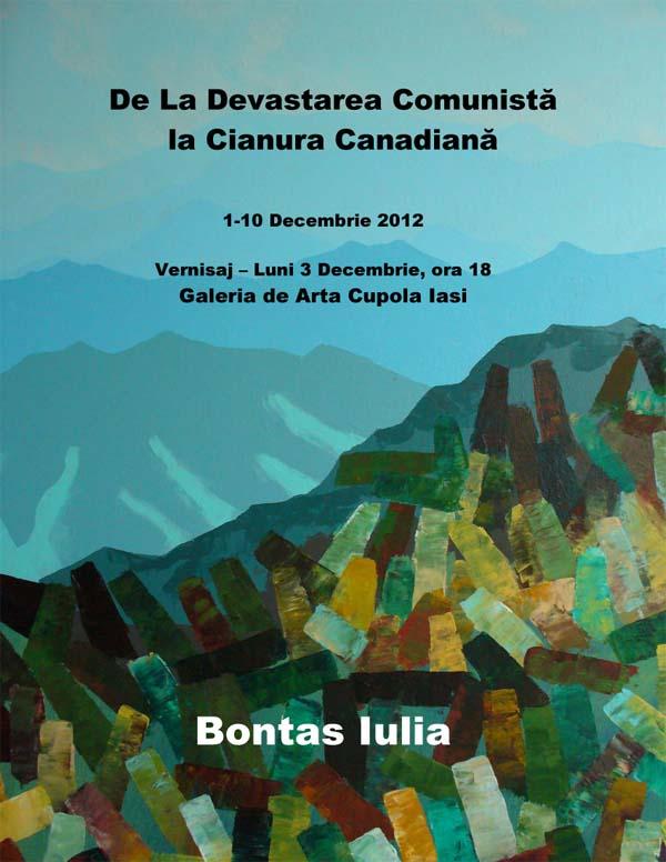 Afis bontas iulia Expozitia De la devastarea comunista la cianura canadiana, 1 10 decembrie