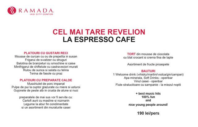 Espresso Revelion - menu