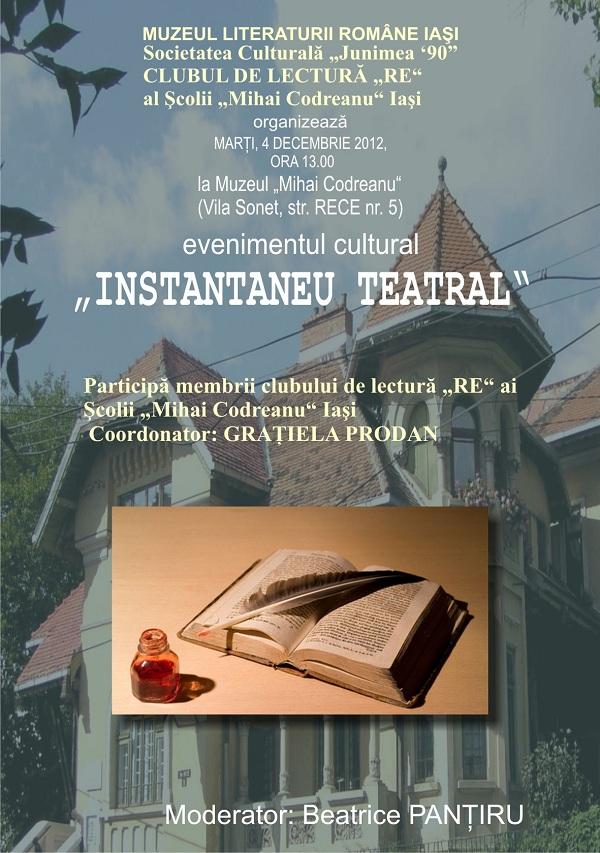 Instantaneu Teatral/ 4 decembrie afis iasi