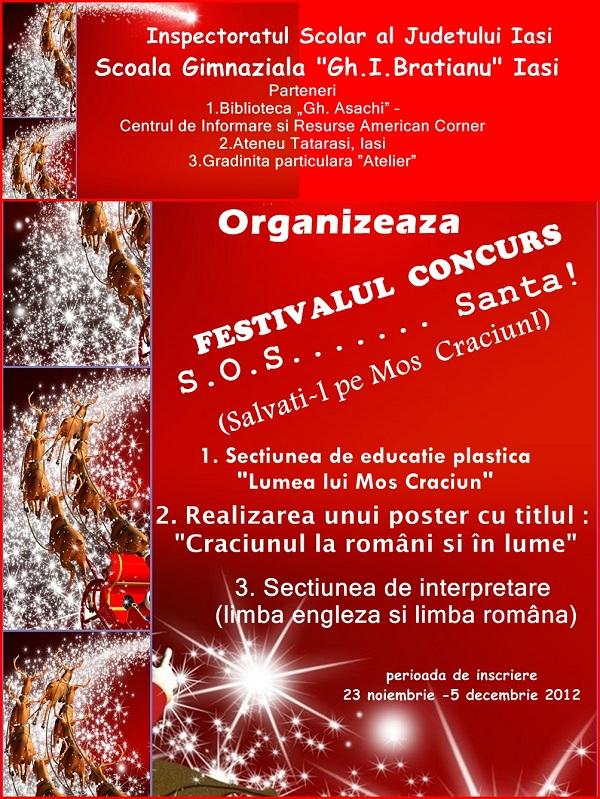 S.O.S. SANTA – Festival concurs, vineri, 14 decembrie afis