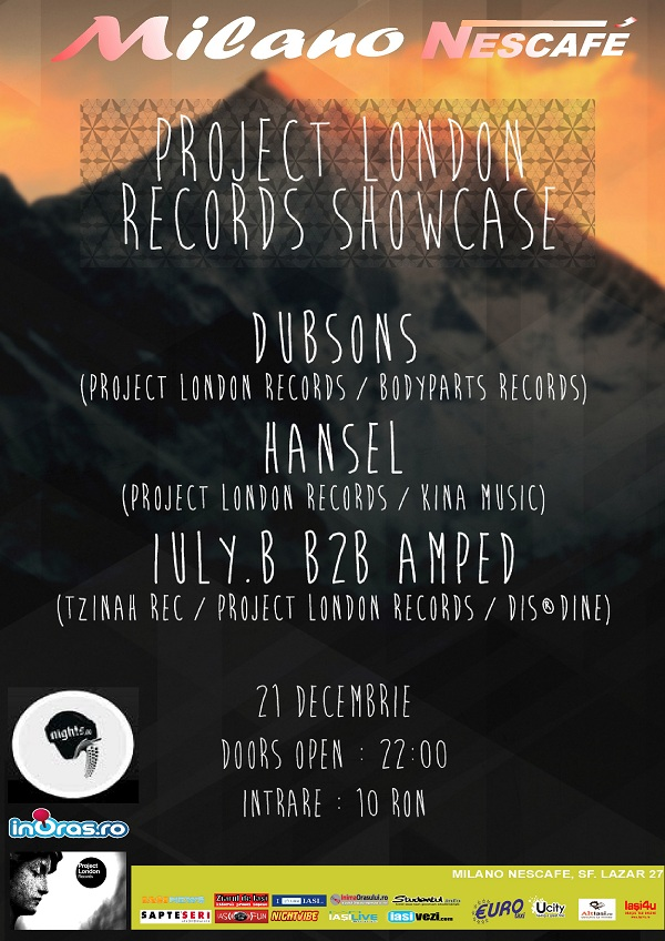 Project London Records Showcase/ 21 decembrie afis