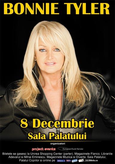 afis Bonnie Tyler va concerta la Bucuresti pe 8 decembrie 2012