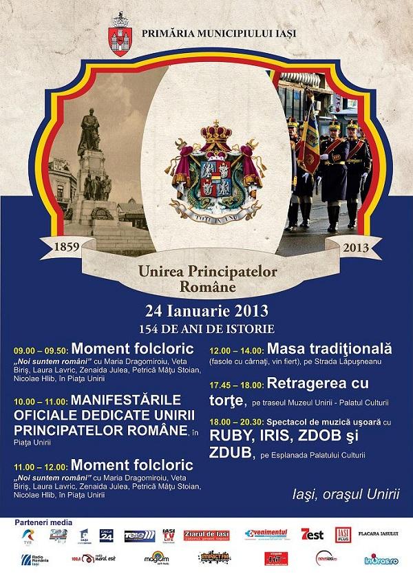 Concert de Ziua Unirii la Iasi/ 24 ianuarie afis