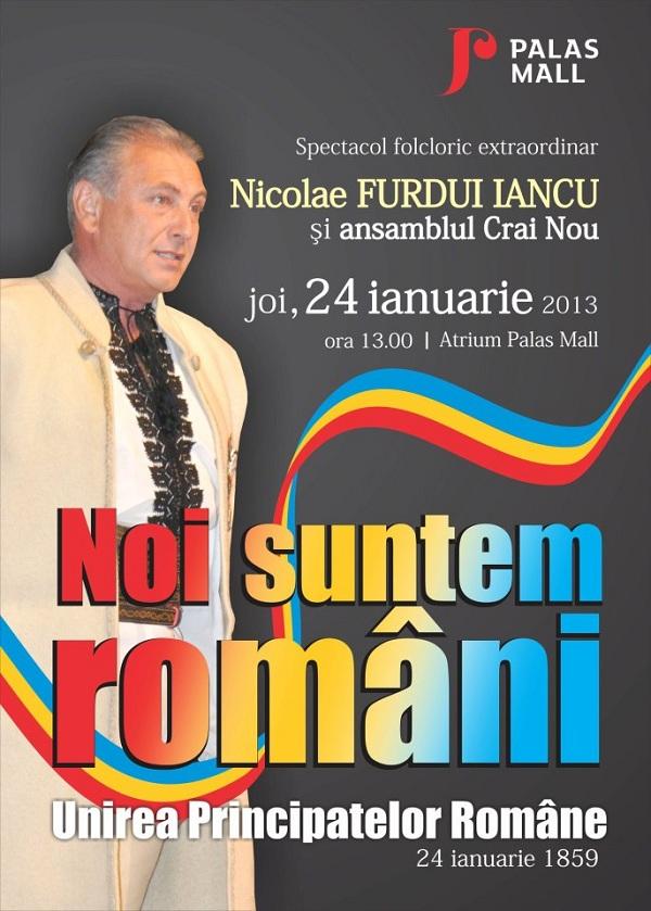 Concertul folcloric extraordinar la Palas de Ziua Unirii/ 24 ianuarie afis iasi