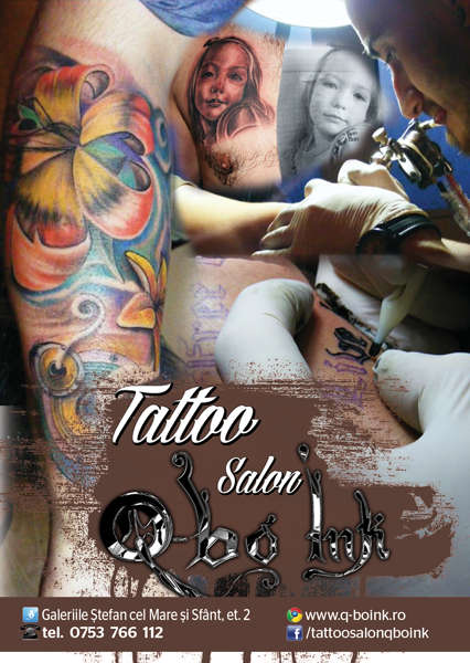 Tattoo Q-Bo INK, salon autorizat de tatuaje in Iasi afis