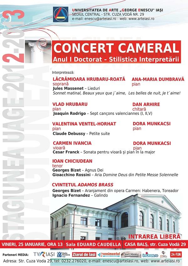 UAGE: Concert cameral/ 25 ianuarie afis iasi