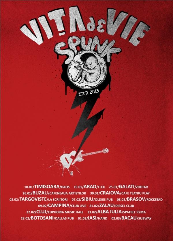 VITA DE VIE – spunk tour 2013/ IASI, 1 martie afis