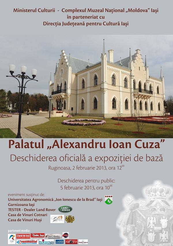 """Redeschiderea expoziției de bază de la  Palatul """"Al. I. Cuza"""" de la Ruginoasa"""