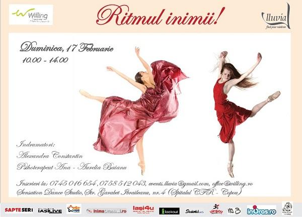 Ritmul inimii - Terapie prin dans/ 17 Februarie afis iasi www.iasifun.ro