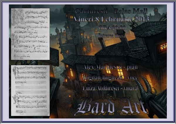 Bard Art, recital in Carturesti/ 8 februarie afis iasi www.iasifun.ro