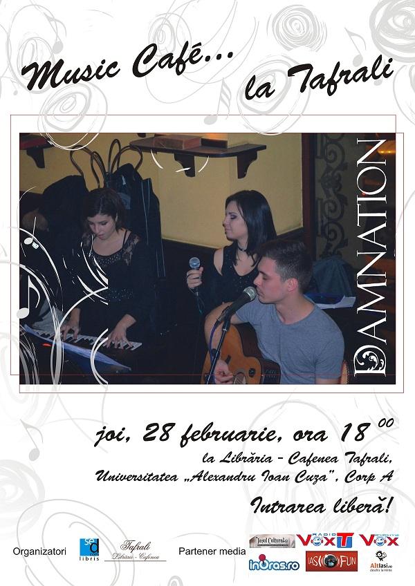 Concert Descantec, la Cafeneaua Tafrali afis iasi