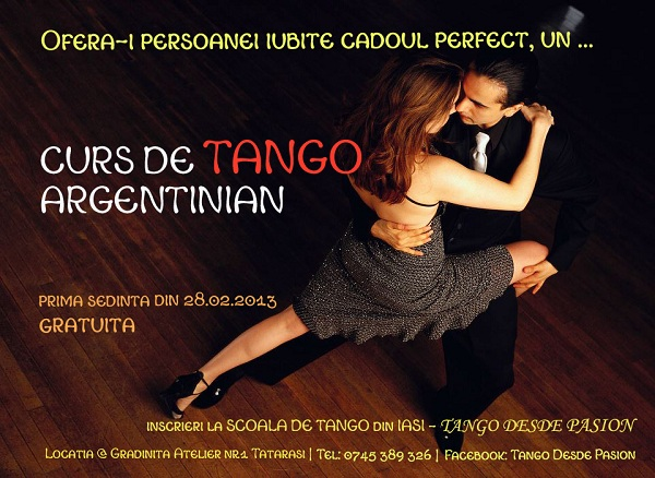 Curs de tango argentinian/ TANGO Desde PASION afis iasi www.iasifun.ro