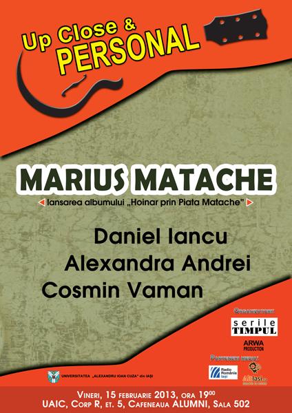 """""""HOINAR prin Piata Matache"""", lansat in Cafeneaua Alumni afis iasi www.iasifun.ro"""