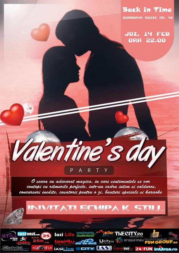 Petrecere de Valentine's Day in Back in Time afis iasi www.iasifun.ro