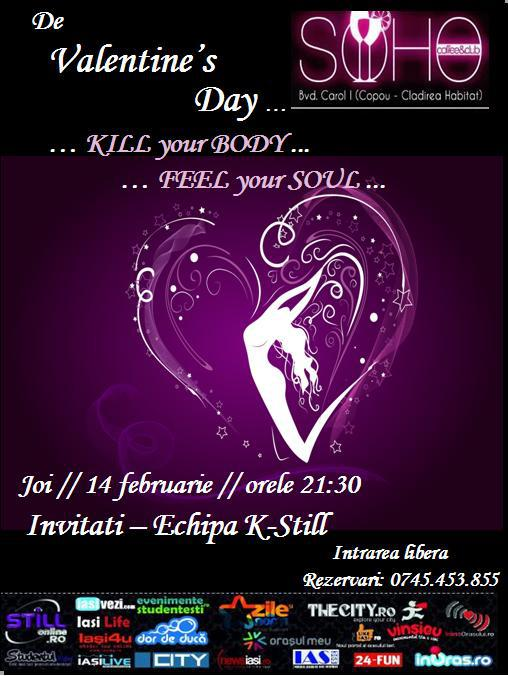 Petrecere la Valentine's Day la Soho afis iasi www.iasifun.ro