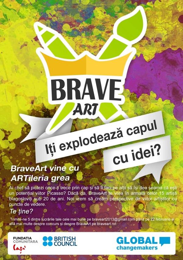 BraveArt, primul business social din Romania pentru tineri sub 20 de ani afis iasi www.iasifun.ro