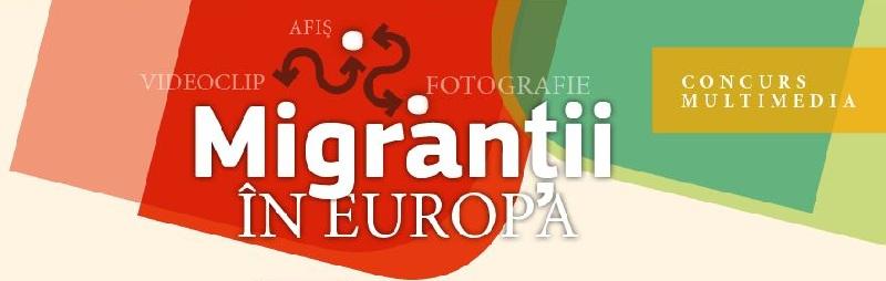 """Concurs european """"Migranti in Europa"""" afis www.iasifun.ro"""
