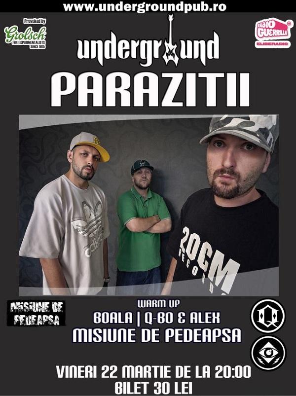 Concert Parazitii/ Underground Pub afis iasi www.iasifun.ro