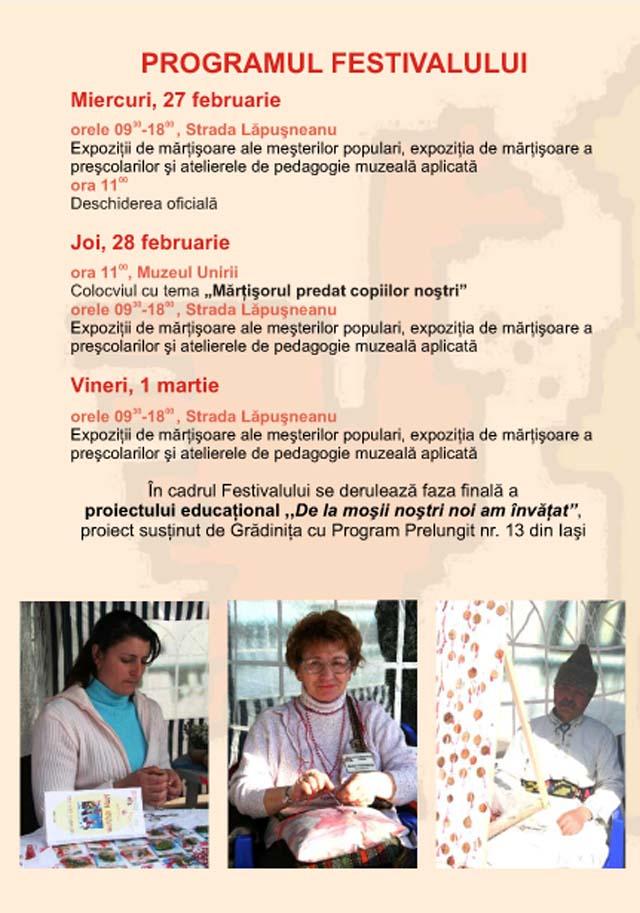 program festival martisor 2013