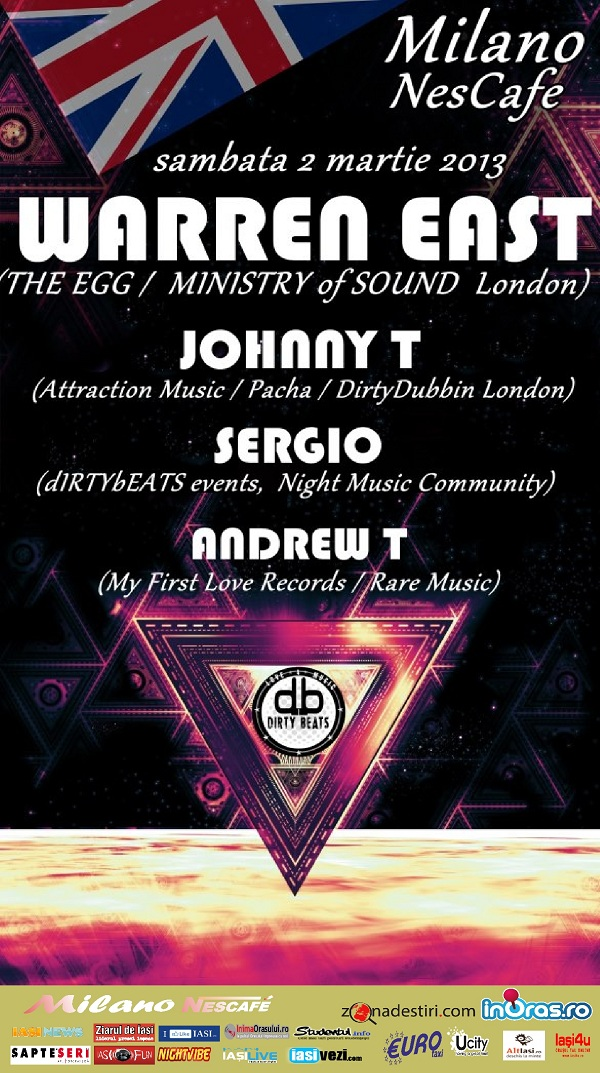 Warren East (The Egg & Ministry of Sound)/ Milano Nescafe johnny t sergio andrew t afis iasi
