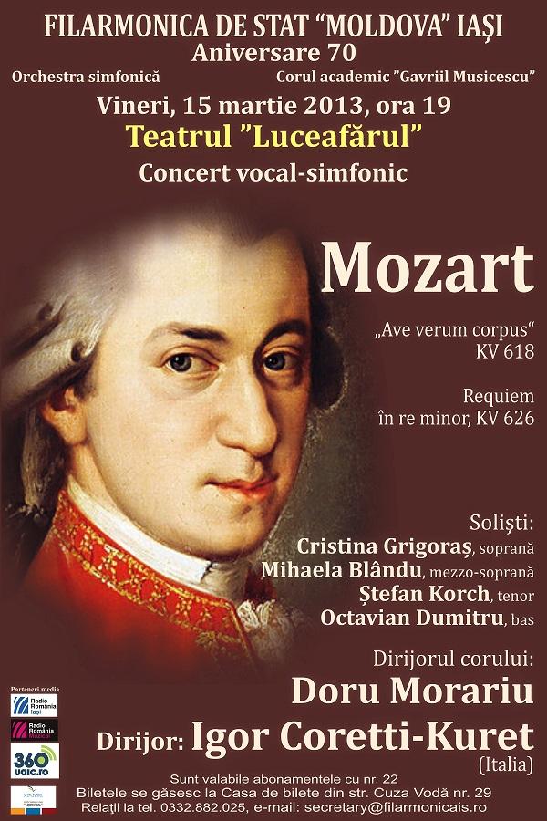 Concert vocal-simfonic dirijat de Igor Coretti Kuret (Italia) si Doru Morariu filarmonica iasi afis