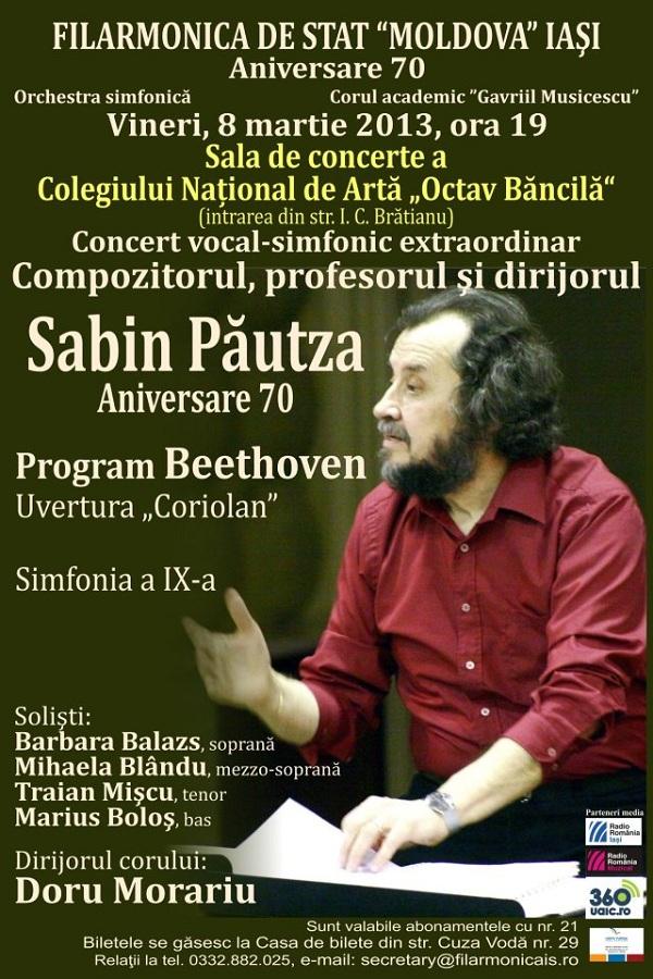 Concert vocal-simfonic extraordinar cu Sabin Păutza afis iasi filarmonica