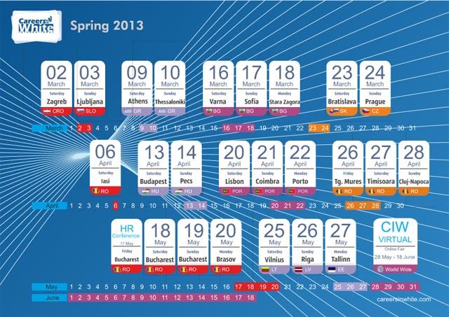 Calendar 2013-cariere in alb