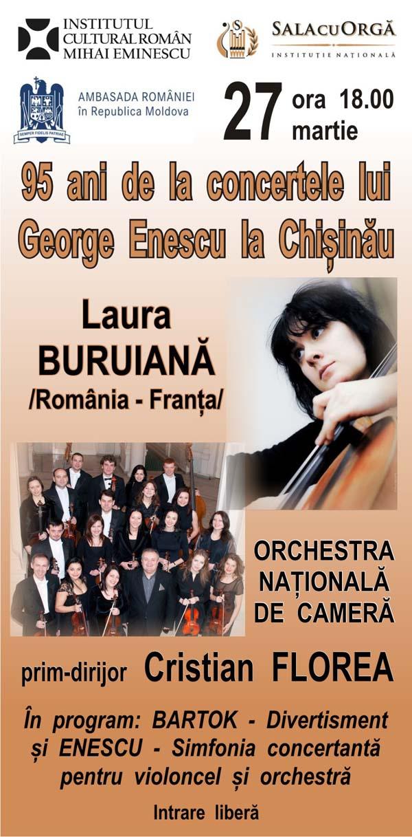 Concert extraordinar Enescu la Chisinau