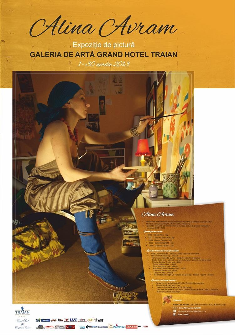Expoziție de Pictură semnată de Alina Avram/ afis Iasi