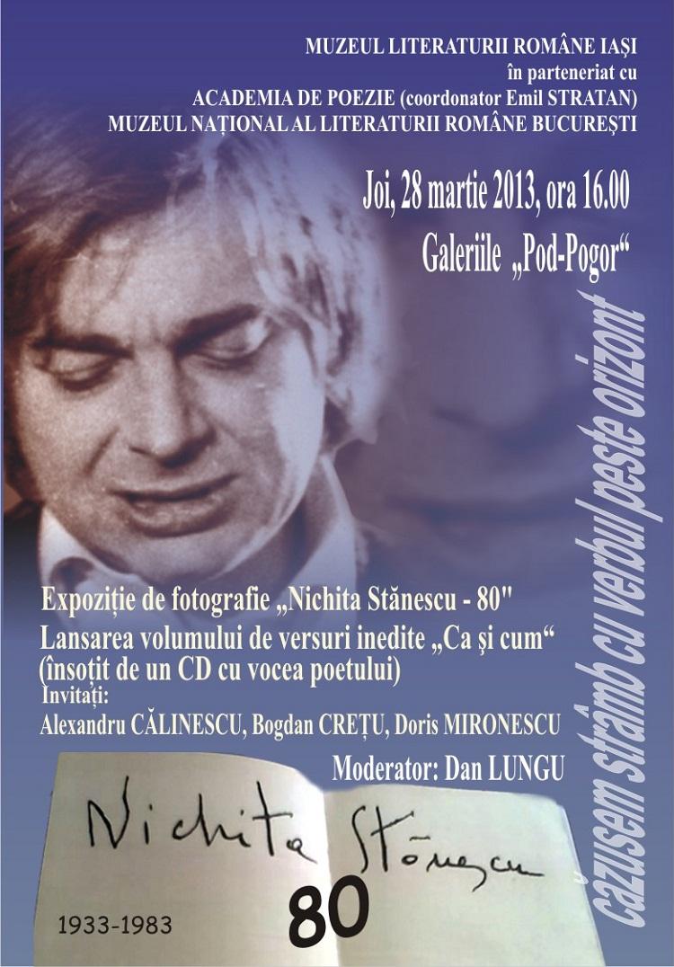 80 de ani de la nașterea poetului Nichita Stănescu/ Afis Iași