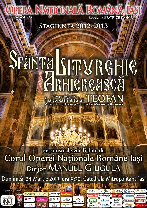 Sfânta Liturghie Arhierească/ Corul O.N.R.I. afis iasi