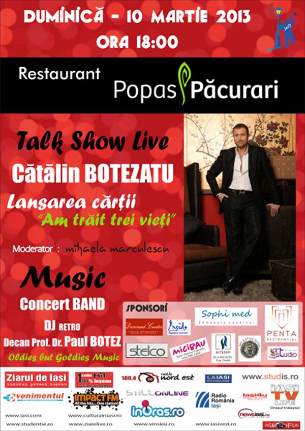 Talk Show Live & Music - Catalin Botezatu