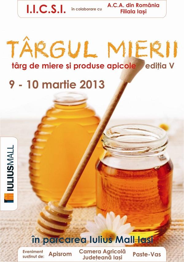 Târg de miere, la Iulius Mall Iași afis