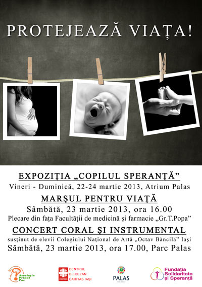 """Asociatia Primul Pas organizează evenimentul """"Protejează viața"""" afis iasi"""