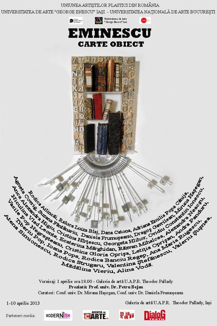 Expoziția de carte-obiect Eminescu/ afis iasi