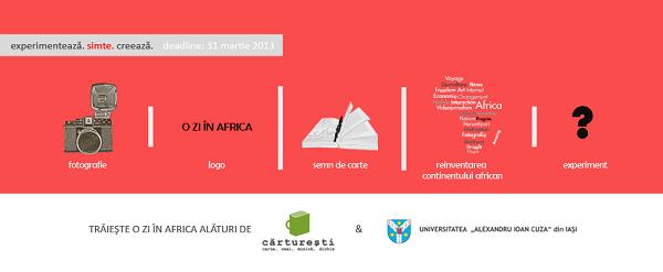 "Concurs creativ ce tema ""O zi în Africa"" banner iasi fun"