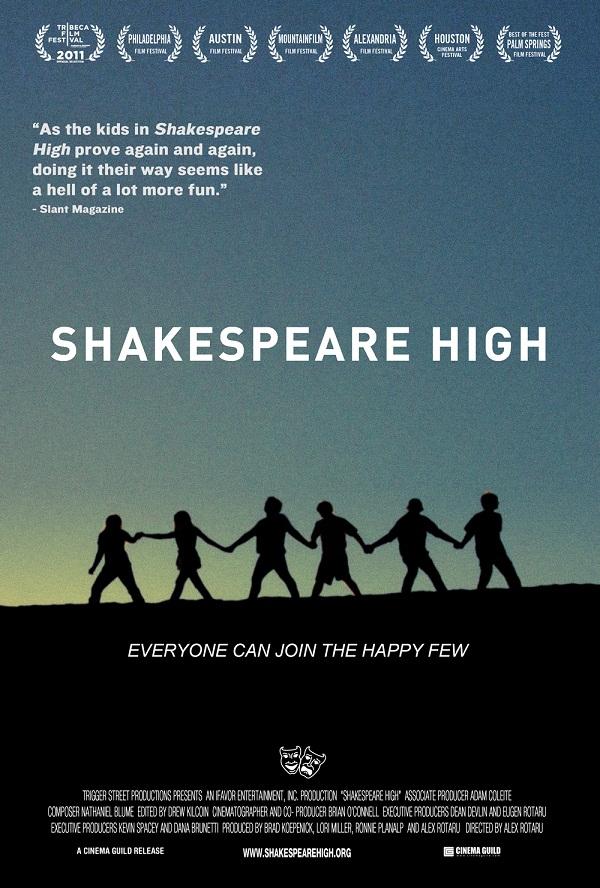 """proiecţie film documentar """"Shakespeare Hight"""" afis teatrul luceafarul"""