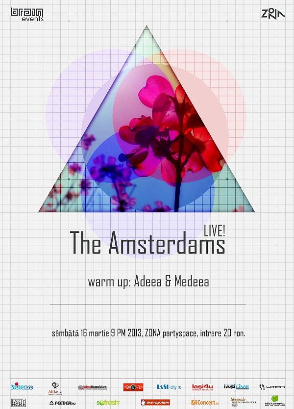 Spiritele libere de la The Amsterdams cântă în Iași pe 16 martie afis iasifun zona