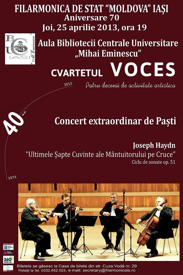 Concert extraordinar de Paşti/ afis Filarmonica Iasi