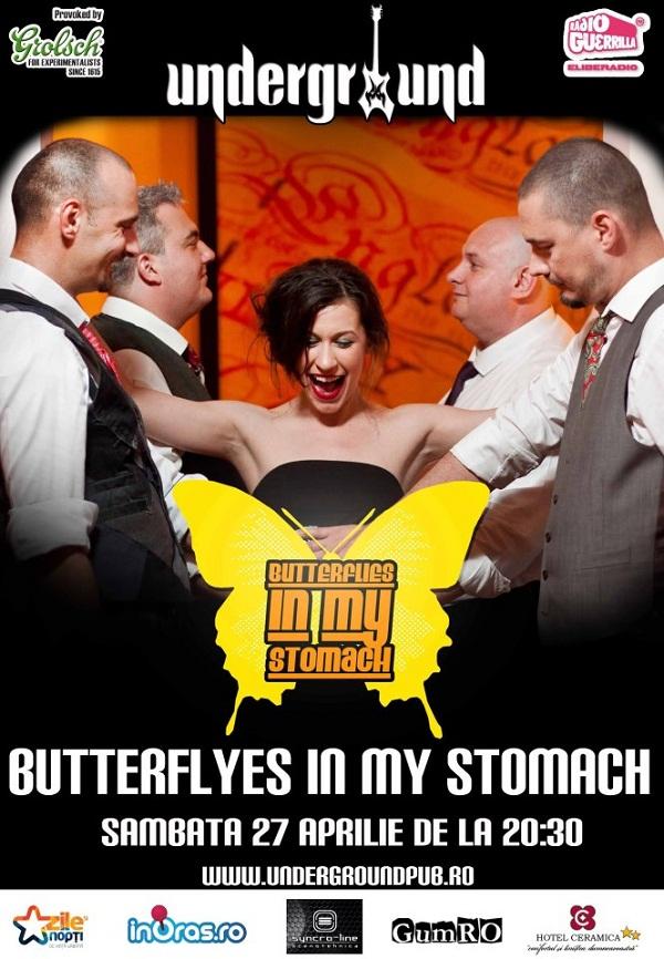 Concert Butterflies in my stomach în Underground/ Afis Iasi