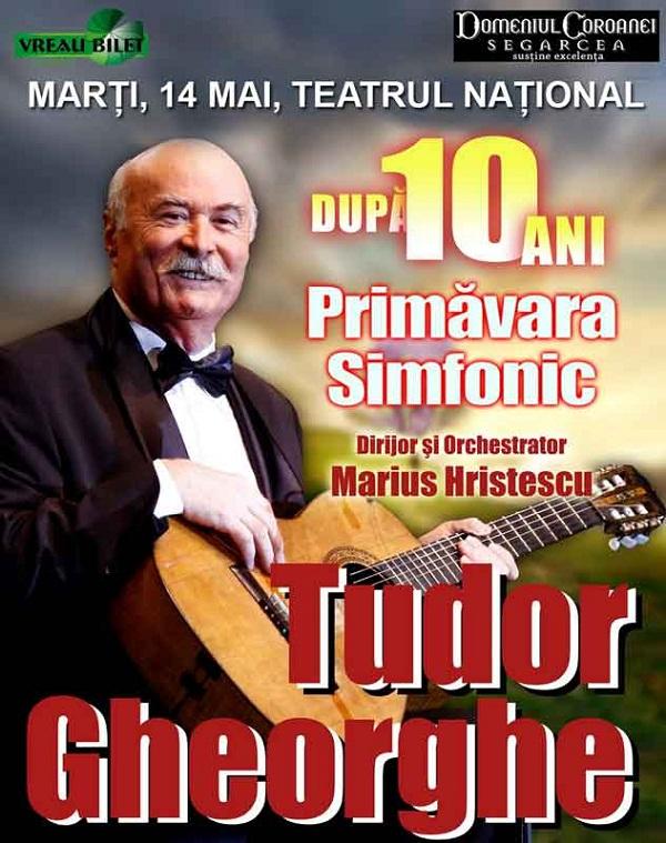 "Tudor Gheorghe, ""PRIMAVARA SIMFONIC""/ Afis Iasi"