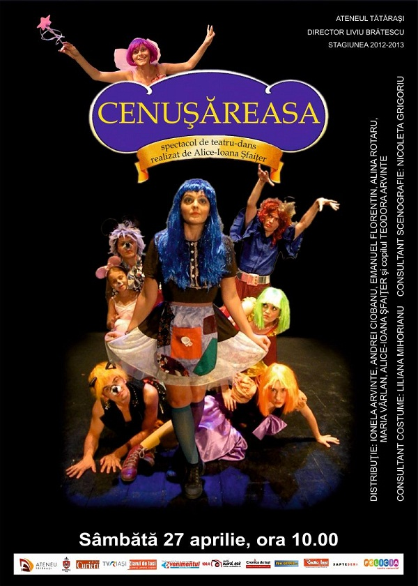 Spectacol teatru pentru copii CENUȘĂREASA aprilie 2013/ afis