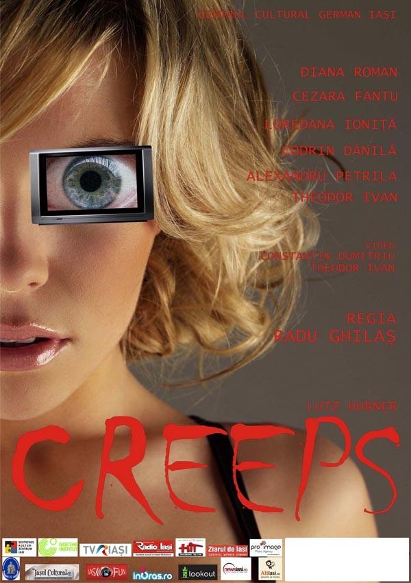 Piesa de teatru CREEPS, de Lutz Hübner, în regia lui Radu Ghilaş/ Afis