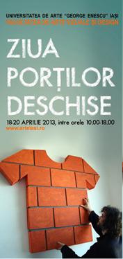 Zilei porţilor deschise - Facultatea de Arte Vizuale si Design/ afis iasi