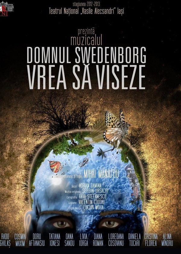 """PREMIERĂ/ Spectacolul """"Domnul Swedenborg vrea să viseze""""/ AFIS"""