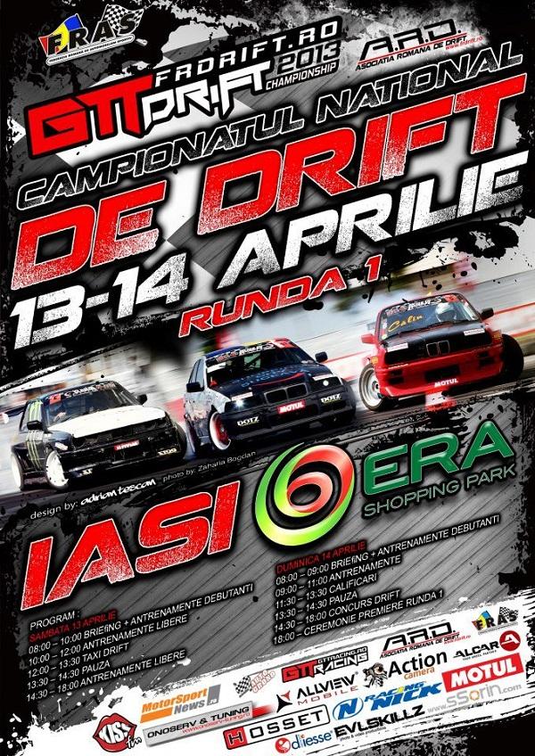 Campionatul National de Drift – Runda 1/ Afis Era Park Iasi