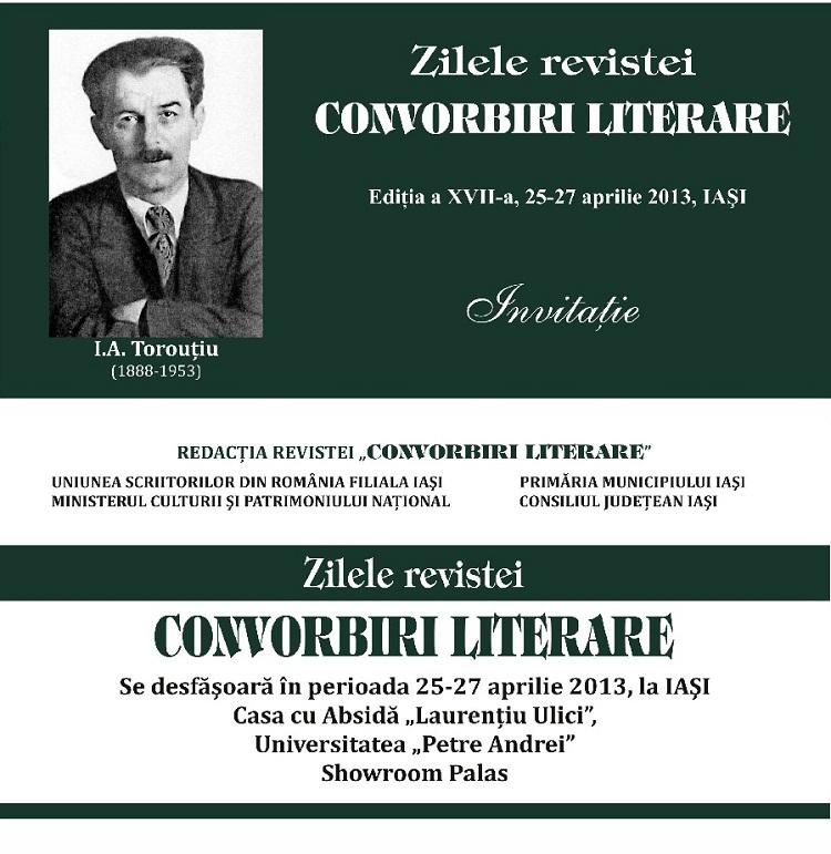 Zilele revistei Convorbiri Literare/ Ediția a XVIII-a/ Afis Iasi