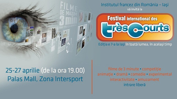 Festivalul International de Foarte Scurt-Metraj/ TRÈS COURTS/ Afis Iasi