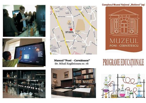 Programele educaționale ale Muzeului PONI-CERNĂTESCU