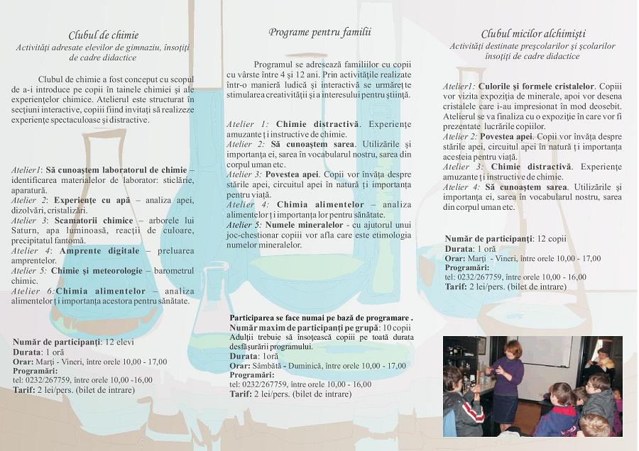 Programele educaționale ale Muzeului PONI-CERNĂTESCU/ program